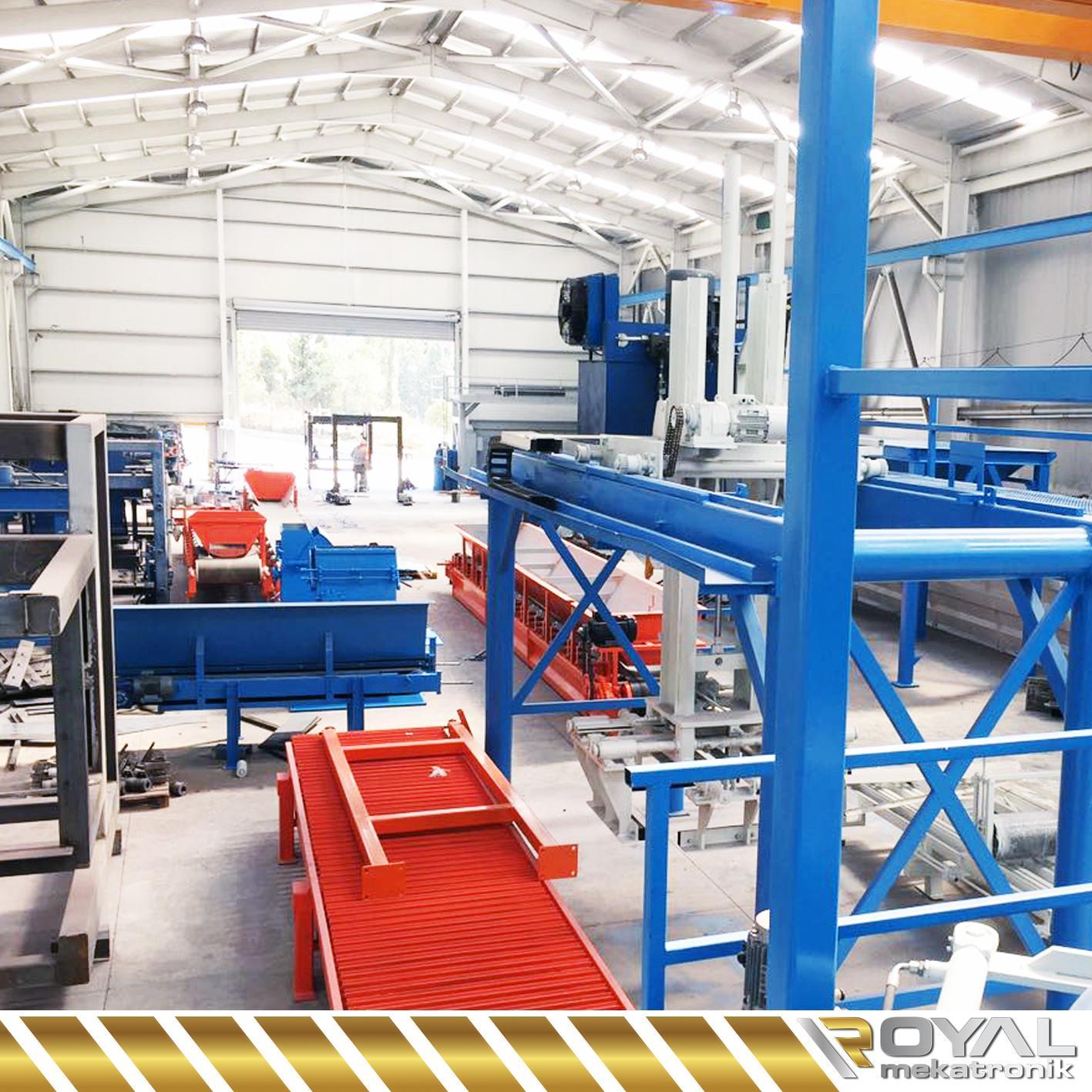 ROYAL OPTIMUS CONCRETE BLOCK MACHINE PRODUCTION